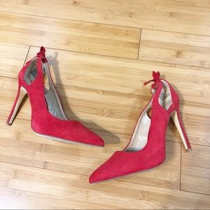 •Red JustFab Pointed  Toe Heel•